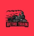 locomotive retro black vector image