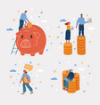 man and woman have money vector image vector image