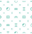 minute icons pattern seamless white background vector image vector image