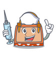 nurse hand bag character cartoon vector image vector image