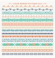 ornamental border frame color patterns set 3 vector image vector image