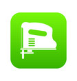 pneumatic gun icon digital green vector image