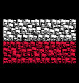 poland flag mosaic of waving flag items vector image