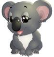 pretty funny koala vector image vector image