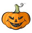 pumpkin contour color vector image vector image