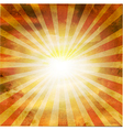 Retro Square Shaped Sunburst vector image vector image