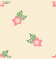 seamless floral pastel pattern vector image