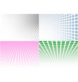 set abstract halftone background vector image vector image