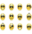 Set inspirational bearded emoticons vector image vector image