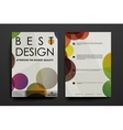 Set of brochure poster design templates in vector image vector image