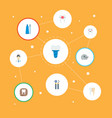set of tooth icons flat style symbols with mirror vector image