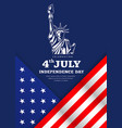 statue liberty celebration flag america vector image