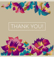 thank you greeting card postcard concept vector image vector image
