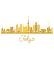 Tokyo City skyline golden silhouette vector image vector image