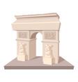 triumphal arch icon cartoon style vector image