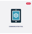 two color communication tool icon from web vector image vector image
