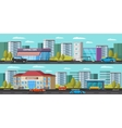Urban Landscape Horizontal Banners vector image vector image