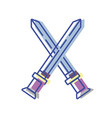 videogame swords and medieval weapon vector image vector image