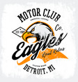 Vintage american furious eagle custom bike motor vector image