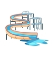 Waterslide in pool icon cartoon style vector image