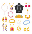 women jewelry accessories beautiful elegant vector image vector image