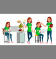 young business woman character environment vector image
