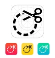 Cut circle icon vector image