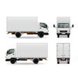 lorry realistic advertising mockup vector image