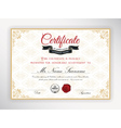 Certificate of achievement template design vector image