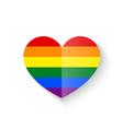 Rainbow Heart icon vector image