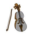 violin instrument icon image vector image