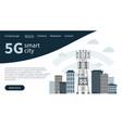 5g mast base station in smart city landing page