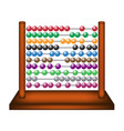 abacus in wooden design vector image