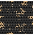 Abstract dotted black metal background vector image