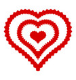 abstract heart icon simple style vector image vector image