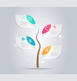 abstract tree infographic element background vector image