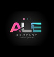 ale a l e three letter logo icon design vector image vector image