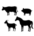 animals farm domestic icon vector image vector image