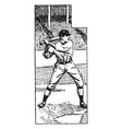 baseball player vintage vector image