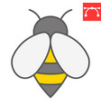 bee color line icon insect and honey sign