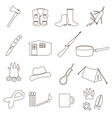 black backwoodsman simple outline icon set eps10 vector image vector image