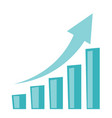 business growth bar chart with arrow going up