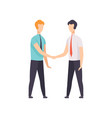 businessmen are handshaking business meeting vector image