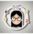 character system connection symbol vector image vector image