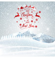 Christmas greeting card merry lettering