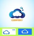 cloud logo icon computing technology concept vector image vector image