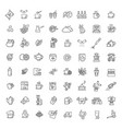 coffee and tea icons set thin line design vector image vector image