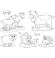 Coloring farm animals 2 vector image vector image