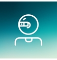 Computer web camera thin line icon vector image