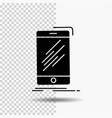 device mobile phone smartphone telephone glyph vector image vector image